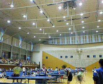 カデット卓球大会会場にきています