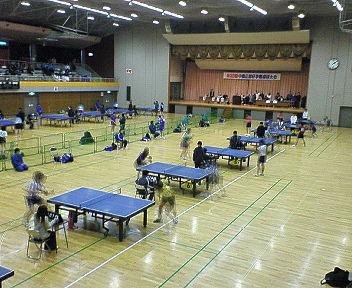 中島杯争奪卓球大会にきています