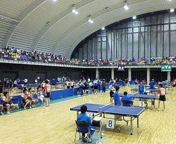 県中学総体卓球競技が熱戦展開
