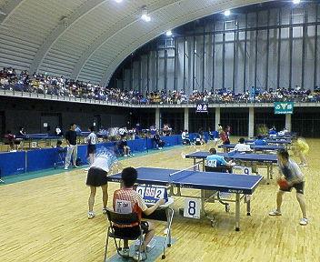 県中学総体卓球二日目です